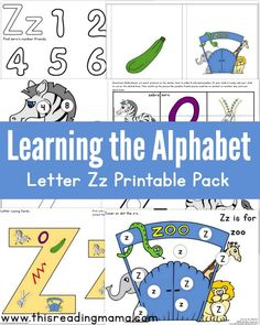 Learning the Alphabet - FREE Letter Z Printable Pack | This Reading Mama