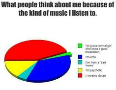 What people think of me because i love black veil brides,falling in reverse,pierce the veil,bring me to the horizon etc.