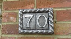 House door number plaque. Thick rope edge style by Belladoresigns