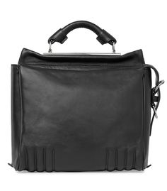 The New 3.1 Phillip Lim Ryder Bag at #ShopBAZAAR – Black Leather Small Ryder Satchel