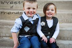 His and Hers vests! going to use leftover work pants! @rachel and I are making these for our kids!!