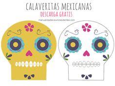 calaveras mexicanas para decorar Día de los Muertos
