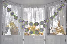 1st Birthday Banner - Polkadots Lavender Purple and Lime Green - Girls Birthday Party Decorations - product images  of