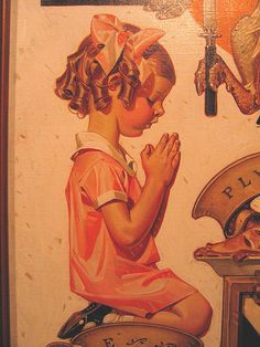 because sometimes nothing but on your knees, head bowed seeking grace will do...J.C. Leyendecker