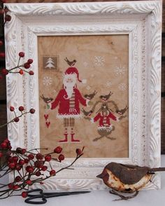 MADAME CHANTILLY Santa and the Little Birds by NeedleCaseGoodies