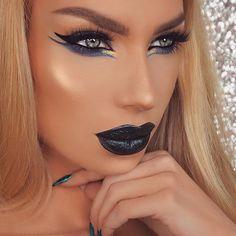 Glam Makeup Look, Sexy Makeup, Lip Makeup, Makeup Looks, Vampy Lipstick, Liquid Lipstick, Kat Von D, Vegas Nay Lashes, Beautiful Lips
