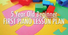 Lesson planning is a helpful tool for piano teachers, even if you don't follow it! This plan is for a very first piano lesson with a five year old beginner.