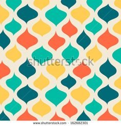 Vector seamless abstract hand-drawn pattern. EPS10 Vector illustration - stock vector