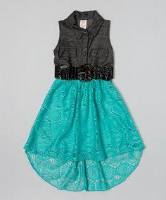 Loving this Mint Belted Sleeveless Dress - Toddler & Girls on #zulily! #zulilyfinds