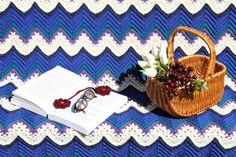 Crochet afghan crochet blanket chevron ripples home by JilaCrochet