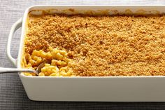 Creamy, cheesy macaroni with a light, crunchy topping: This is the macaroni and cheese that dreams are made of. A hit of ground mustard brings an unexpected kick to this guaranteed crowd pleaser. (macaroni and cheese casserole with meat) Cheesy Mac And Cheese, Macaroni N Cheese Recipe, Cheese Recipes, Pasta Recipes, Dinner Recipes, Cooking Recipes, Cheesy Sauce, Mac Cheese, Epicurious Recipes