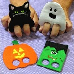Halloween Finger Puppets - 4x4 | What's New | Machine Embroidery Designs | SWAKembroidery.com Nobbie Neez Kids
