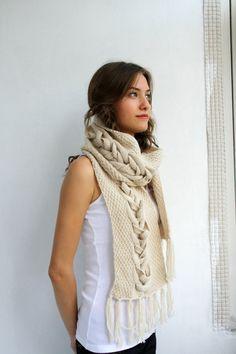 Diseño especial lana beige por DenizGunes tejer por denizgunes, $60.00