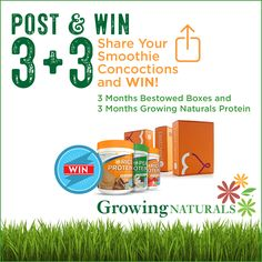 Growing Naturals GN Fit 30-Day Smoothie Challenge - Oct 22-Nov 20, 2016. Post to win - details at: http://growingnaturals.com/gnfit30daysmoothiechallenge/