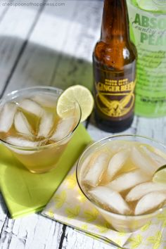 Ginger Pear Cocktail - ateaspoonofhappiness.com
