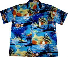 """Hawaiihemd / hawaiian shirt """"Day on Hawaii""""  Link: http://www.hawaiihemdshop.de/epages/64415908.sf/de_DE/?ObjectPath=/Shops/64415908/Products/38  more hawaiian shirts at / weitere Hawaiihemden auch unter: http://www.hawaiihemdshop.de"""