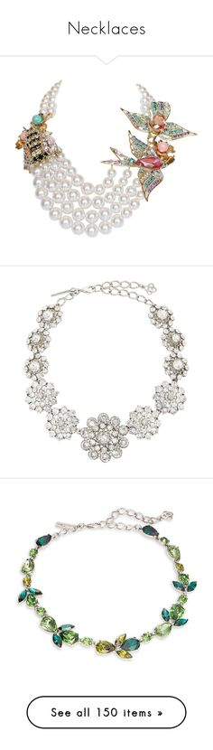 """""""Necklaces"""" by miriam83 ❤ liked on Polyvore featuring jewelry, necklaces, multiple, bohemian necklaces, bohemian jewellery, 24 karat gold necklace, swarovski crystal jewelry, boho necklace, oscar de la renta and beaded necklaces"""