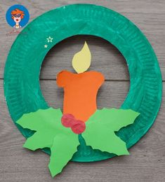 Paper Plate Christmas Crafts - U CreateChristmas Candle Paper Pleasantly Fragrant DIY Christmas Candle Craft Ideas - Pretty Rad Pleasantly Fragrant DIY Christmas Candle Craft Ideas - Pretty Rad ListsCandle craft addict? Paperplate Christmas Crafts, Christmas Arts And Crafts, Preschool Christmas, Noel Christmas, Christmas Activities, Christmas Projects, Preschool Crafts, Holiday Crafts, Christmas Wreaths