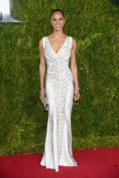 Misty Copeland in Herve Leger. See what everyone wore to the 2015 Tony Awards.