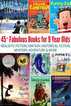 Fabulous Books for 9 Year Olds: Chapter Books for Fourth Graders Books best books Read Aloud Books, Good Books, Children's Books, Fun Craft, Realistic Fiction, 10 Year Old Boy, Award Winning Books, Books For Boys, Kids Reading