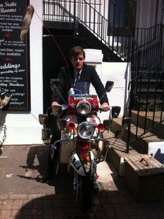 BRIGHTON ROCKS DUDE ON JP'S SCOOTER (aka Sam Riley)  Added by John Paterson