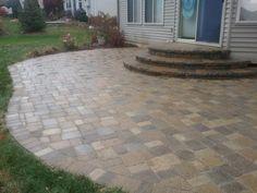 Brick Paver Patio and Steps Restored