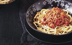 10 healthy pasta dishes under 450 calories nutrition myfitnesspal healthy p High Fibre Lunches, High Fiber Foods, Lentil Bolognese, Bolognese Recipe, Bolognese Pasta, Mushroom Bolognese, Healthy Pastas, Healthy Recipes, Delicious Recipes