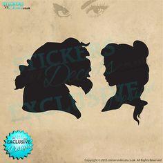 Disney  Beauty & The Beast  Silhouette  Vinyl by stickersndecalsuk
