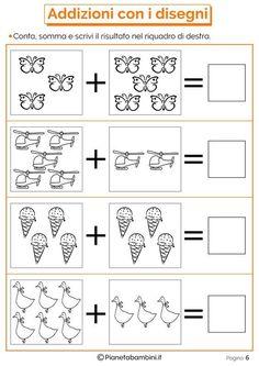 Risultati immagini per domino addizioni entro il Kindergarten Math Worksheets, Learning Activities, Preschool Activities, Kids Learning, Phonics Books, Math Addition, Simple Math, 1st Grade Math, Math For Kids