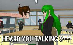 Oh my god, the pose mod XD . Yandere Simulator Characters, Yandere Simulator Memes, Yandere Anime, Me Anime, Sims Memes, Funny Memes, Video Game Memes, Art Memes, Gaming Memes