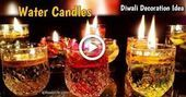Diwali decoration ideas Water candles | DIY | Diwali decorat