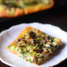 History of Pizza and Robiola, Portobello and Zucchini Pizza with Truffle Oil