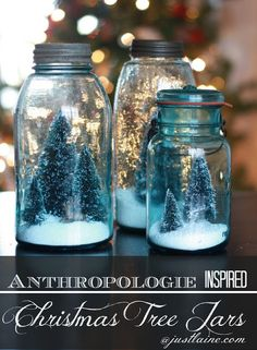 A Handmade Christmas: Anthropologie Inspired Christmas Tree Jars | Money Saving Mom®
