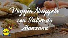 Veggie Nuggets con Salsa de Manzana - Frutas y Verduras Lidl, Place Card Holders, Youtube, Gluten, Fruits And Vegetables, Sauces, Recipes, Apple Sauce, Lactose Free