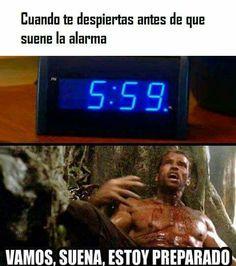 Cuando te despiertas antes de que suene la alarma