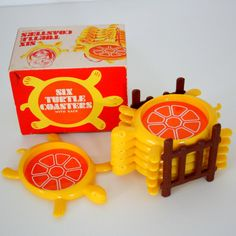 70s Turtle Coasters - Made in the USA