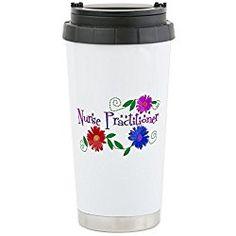 Nurse Practitioner III Stainless Steel Travel Mug - Stainless Steel Travel Mug, Nurse Gift Insulated 16 oz. Coffee Tumbler