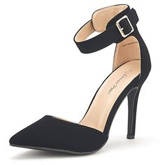 DREAM PAIRS OPPOINTEDANKLE Womens Pointed Toe Ankle Strap DOrsay High Heel Stiletto Pumps Shoes BLACK NUBUCKSZ9 ** Learn more by visiting the image link-affiliate link. #Shoes& Heels