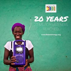 Lifeline Energy is 20 years old this month🎉 For 2 decades we've delivered sustainable access to information and education to the last mile listener.