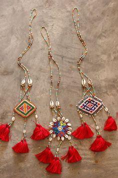 Kuchi Seashell Tassels Necklace/ Ethnic / Hippie by CHEZMOIMYHOME, $35.00: