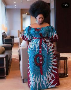 Ankara gown dashiki print African womens clothing hand made vintage Hitargert wax quality African fabric plus sizemaxi dress. - Plus Size Formal Dresses - Ideas of Plus Size Formal Dresses Modern African Print Dresses, African Maxi Dresses, African Fashion Ankara, African Traditional Dresses, African Print Fashion, African Attire, African Wear, African Women, African Prints