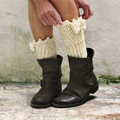 Mini legwarmers knitted crochet