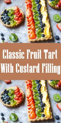 Vegan Dessert Recipes, Delicious Dinner Recipes, Breakfast Recipes, Cooking Recipes, Breakfast Cake, Quick Healthy Meals, Healthy Fruits, Easy Meals, Custard Recipes