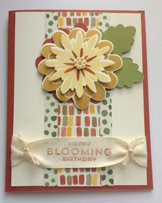 Color Me Autumn Flower Patch | Midnight Crafting / November Birthday Card Flower Fair Framelits Stampin Up hand made card