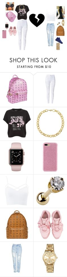 """""""the heartbreak crew"""" by nhynhy2 on Polyvore featuring MCM, WithChic, Laundry by Shelli Segal, Shibaful, Charlotte Russe, Puma, Topshop, MICHAEL Michael Kors and plus size clothing"""