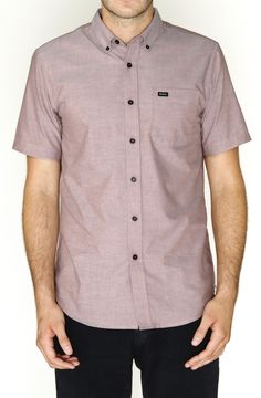 RVCA Mens : Shirts - That'll Do Oxford Ss