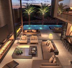 Dream Home Design, Modern House Design, My Dream Home, Luxury Homes Dream Houses, Dream House Exterior, Beautiful Villas, House Rooms, Exterior Design, Future House