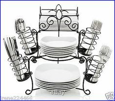 7_Pc_Stack_Serve_Buffet_Caddy_Set_Wrought_Iron_Nesting_Pieces_Plates_Napkins_02_gm.jpg (400×354)