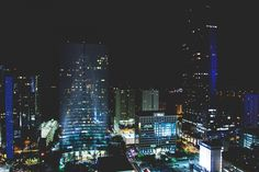 cityscape, skyline, buildings, architecture, towers, high rises, night, dark, evening, lights, city, urban