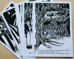 The Night Circus Postcard Pack by LostPlotsShop on Etsy, £5.00